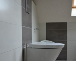 Pose de carrelage et remplacement WC.